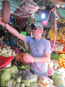 At the Zihuatanejo Market.