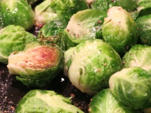 Brussels sprouts braising and roasting