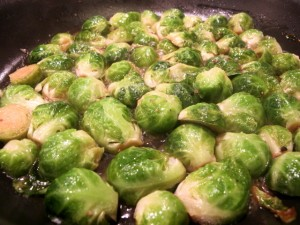 Brussels sprouts braising