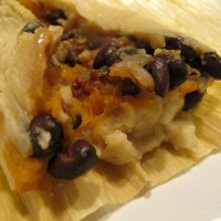 Sweet Potato and Black Bean Tamales