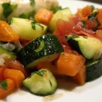 GUANAJUATO: Calabacitas y Zanahorias con Jitomate