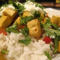Curried Chickpeas and Tofu