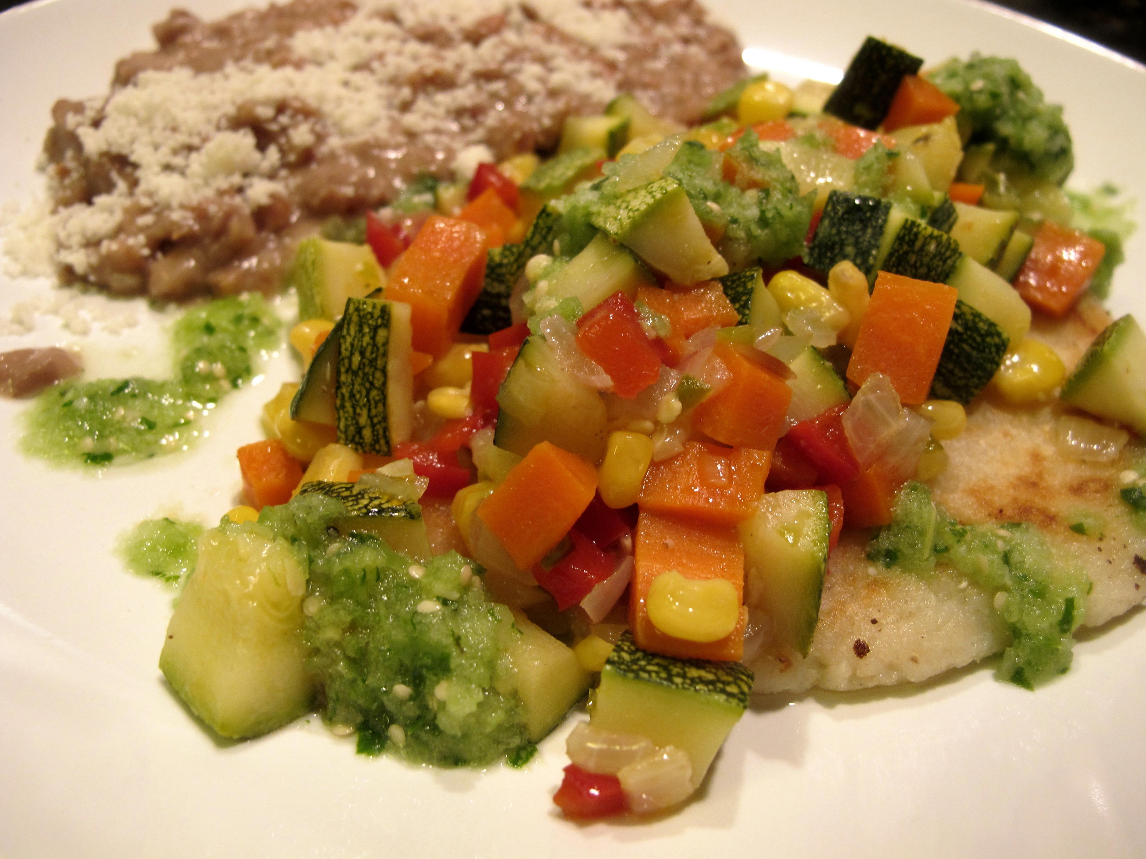 Tortitas De Papa Y Masa Con Verduras El Chino Latino Cocina