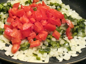 Onion, Tomato and Poblano Chile