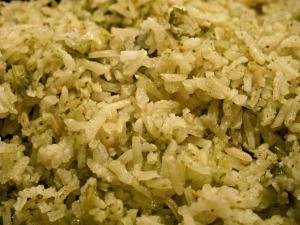 Tomatillo Cilantro Rice