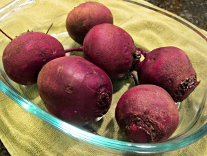 Beets in Baking Dish