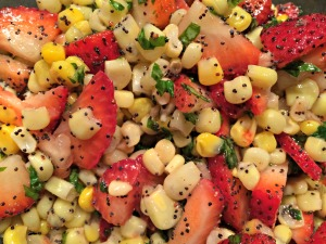 Strawberry and Corn Salad