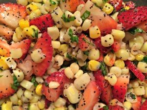 Strawberry and Corn Salad