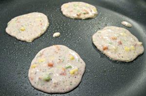Blue Corn Pancakes closeup