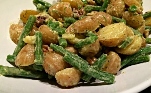 Dilled Potato and Green Bean Salad Closeup