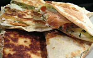 Dilled Smoked Salmon Quesadillas 2