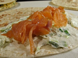 Green Onion Cream Cheese and Salmon