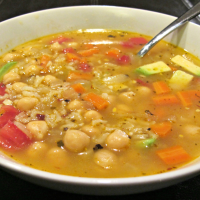 Rice and Garbanzo Soup