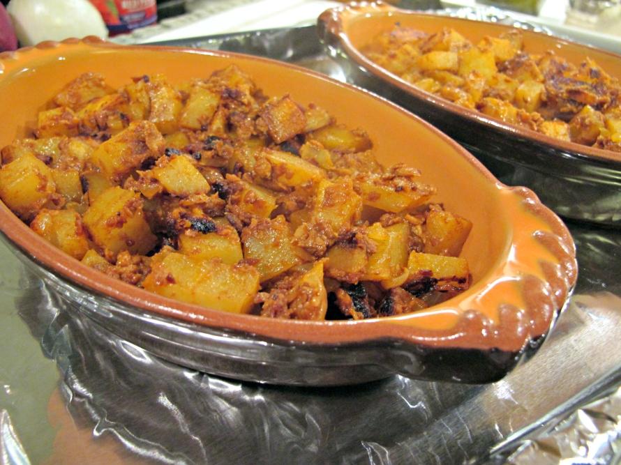 Chorizo and Potatoes Prep