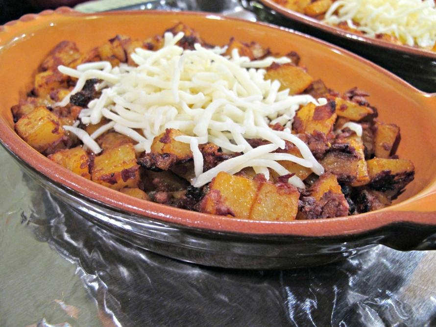 Potato and Chorizo Prep with Cheese